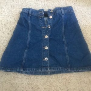 H&M Divided Button Up Denim Mini Skirt